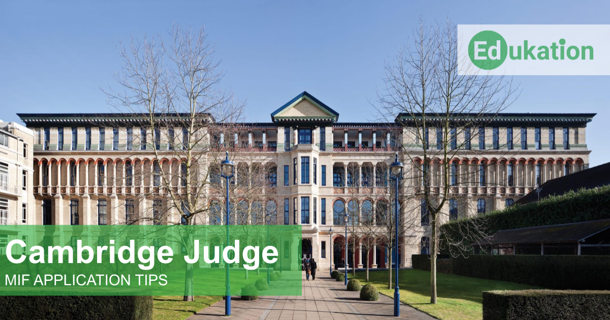 Cambridge Judge MIF